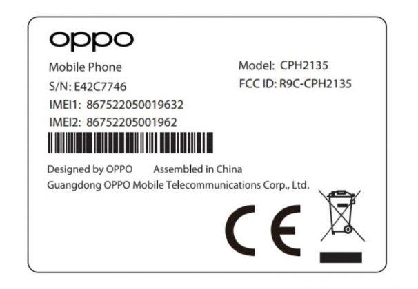 Oppo CPH2135