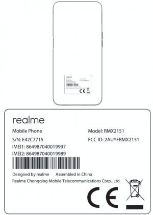 Alleged Realme RMX2151 with Helio G80T and 5000mAh battery surfaced on FCC