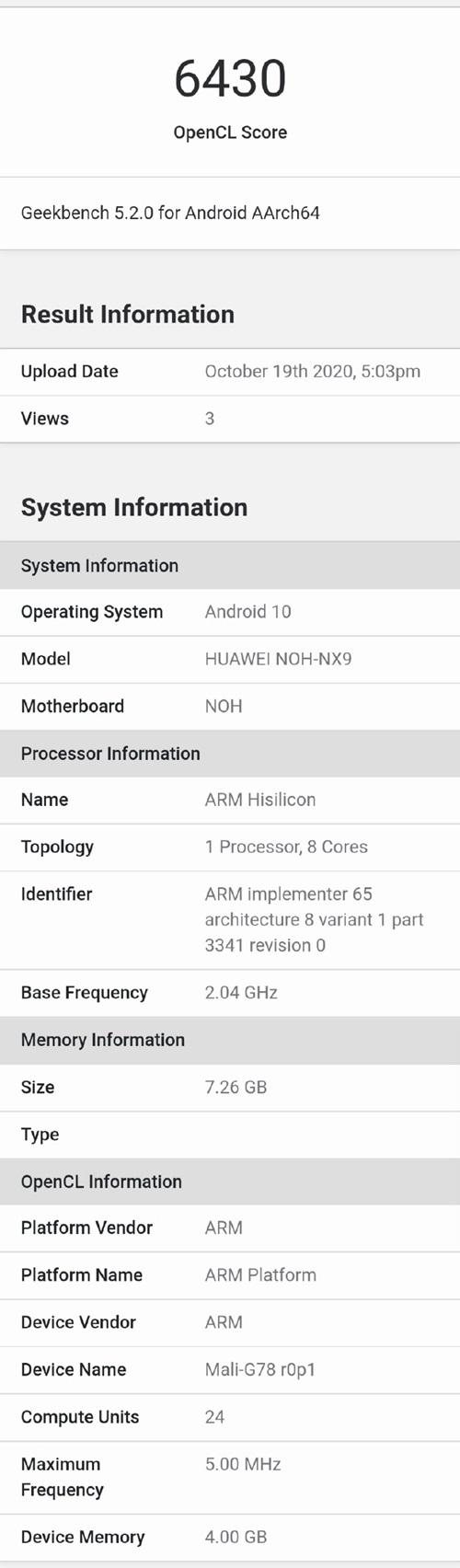 Kirin 9000 on Huawei Mate 40