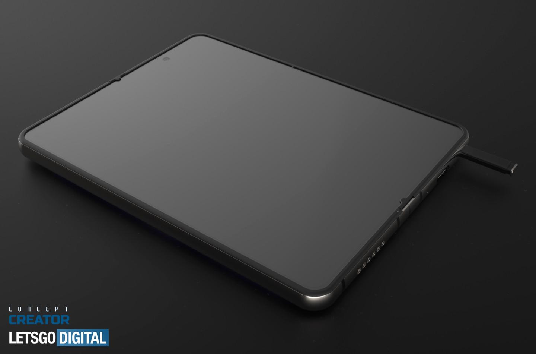 Samsung Galaxy Z Fold 3 patent s pen