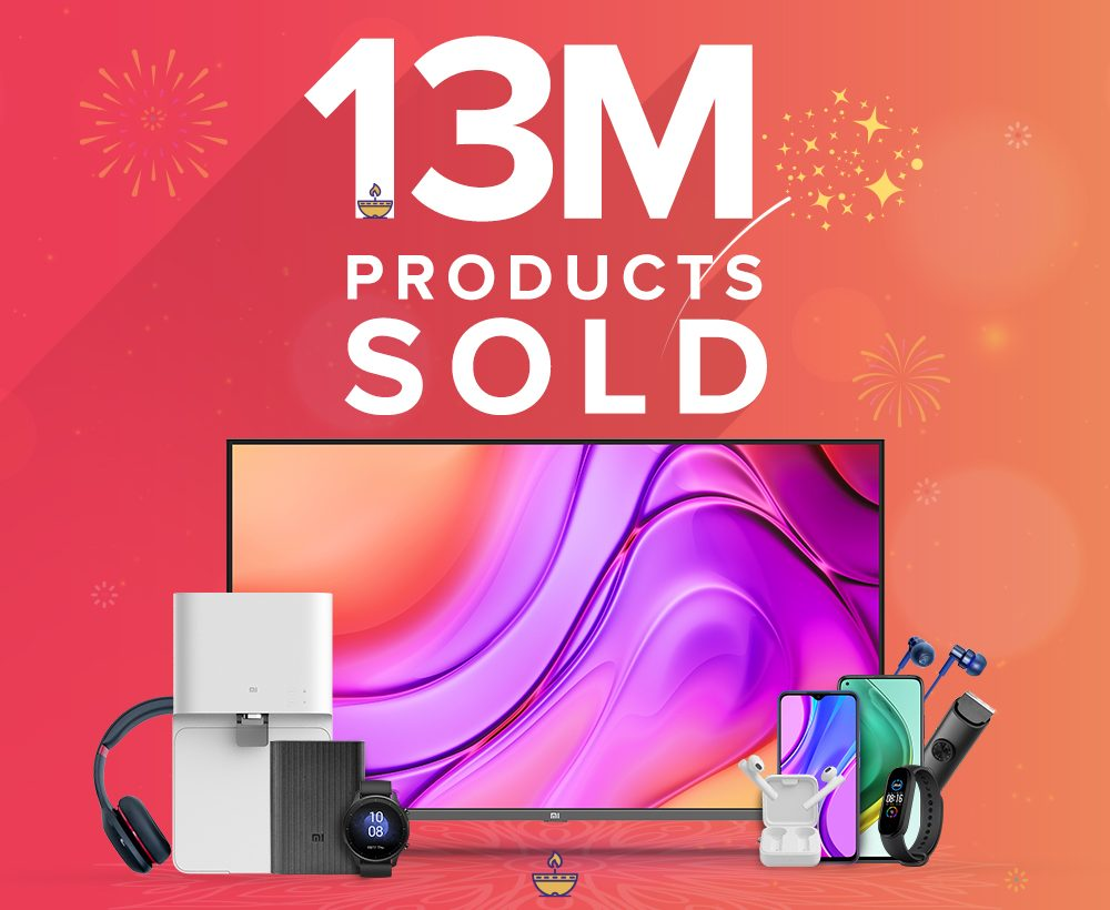 Xiaomi has sold over 13 million products in India during the festive season