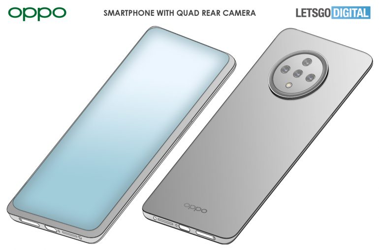 OPPO smartphone with under-screen camera