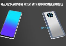 realme smartphone circular camera module