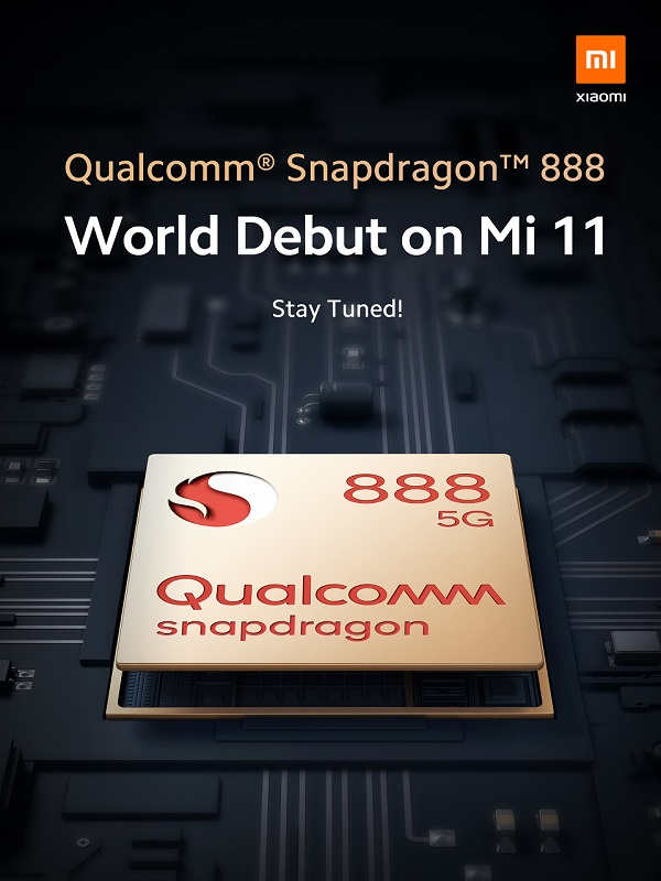 Xiaomi Mi 11 officially announced with Qualcomm Snapdragon 888 SoC