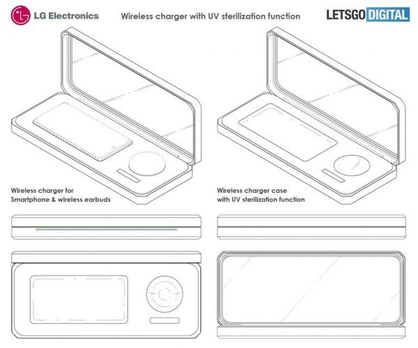 LG wireless charging box