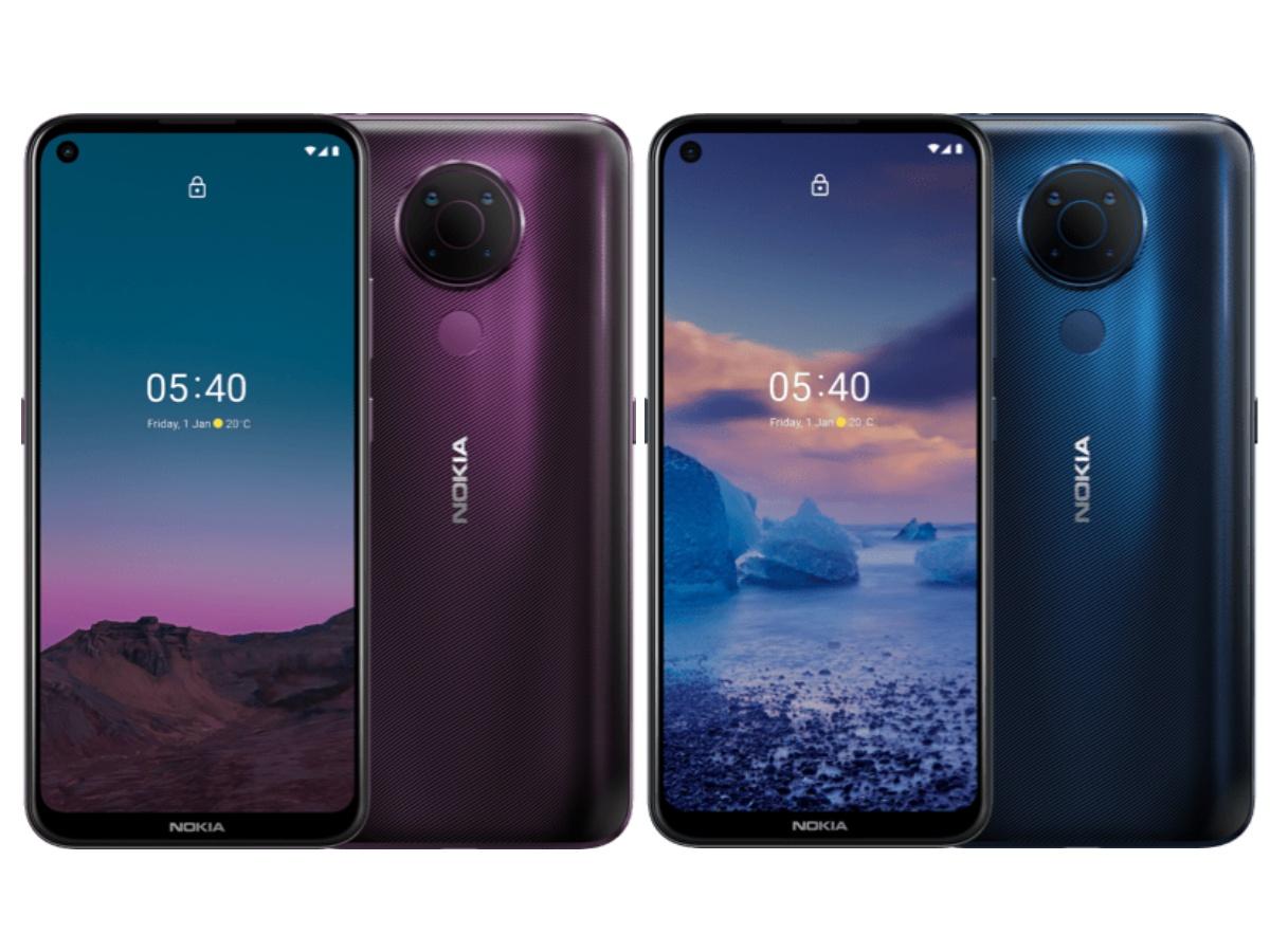Nokia 5.4 colour vairants