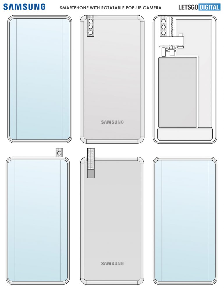 Samsung patents rotating pop-up camera
