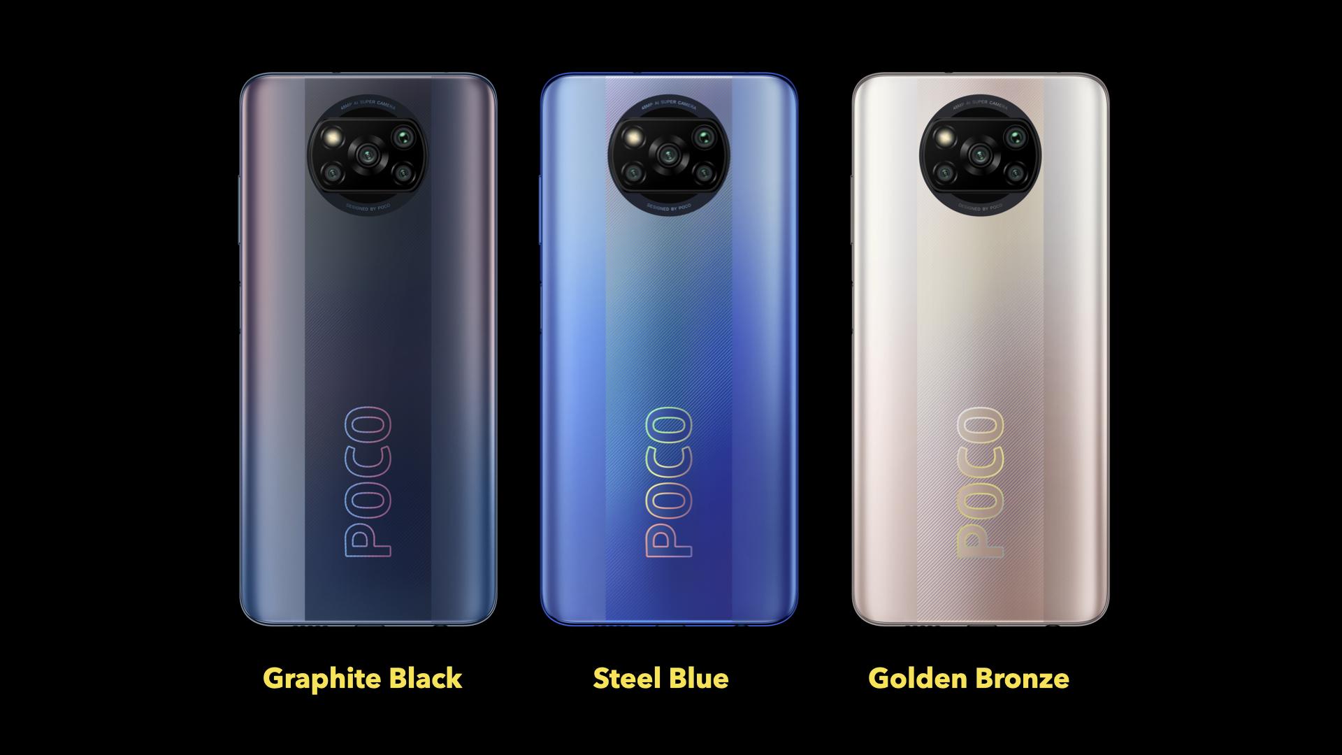 Poco X3 Pro: Colour variants