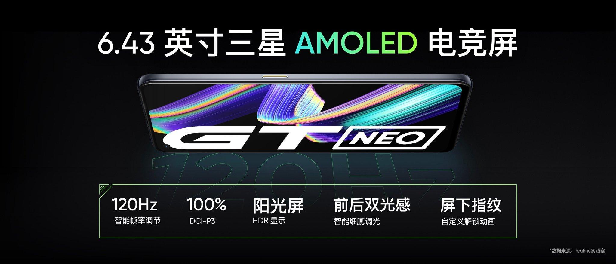 Realme GT Neo display